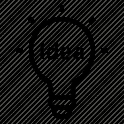 bulb, business, concept, creative, idea, light, solution icon