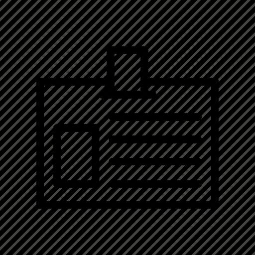 card, employee, id, pass, profile icon