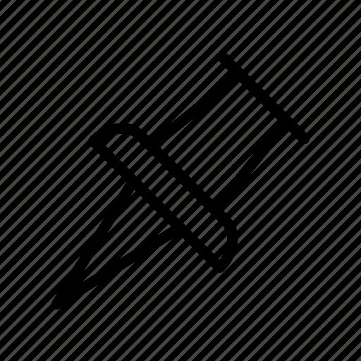 attach, clip, pin, stationary, thumbtack icon