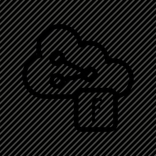 cloud, database, server, share, socialmedia icon