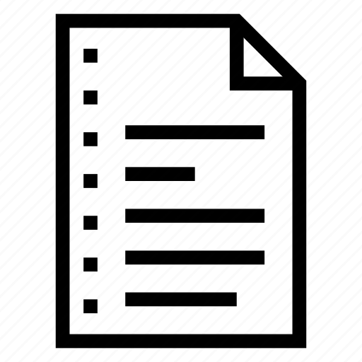document, extension, field, file, format, paper, record icon