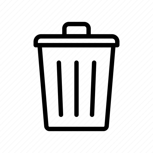 bin, delete, garbage, remove, trash icon