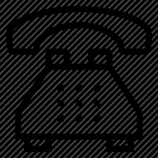 communication, phone, phoneoperator, phoneoutline, phonereceiver, phoneset, telephone icon