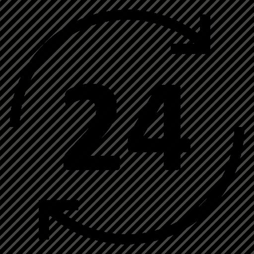 clock, customer, four, service, time, twenty icon