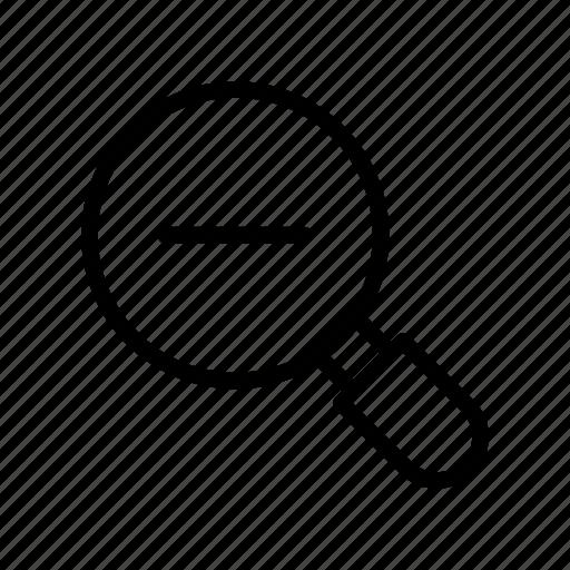 find, magnifier, minus, remove, search icon