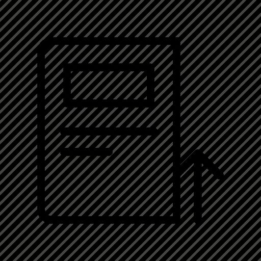 article, news, newspaper, press, upload icon