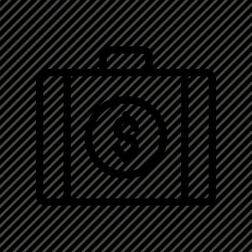 bag, briefcase, currency, dollar, portfolio icon