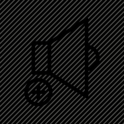 Add, music, sound, speaker, volume icon - Download on Iconfinder