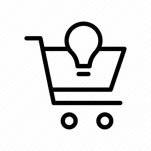 bulb, buy, cart, shopping, troller icon
