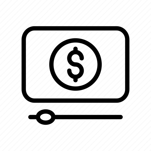 cash, dollar, media, streaming, video icon