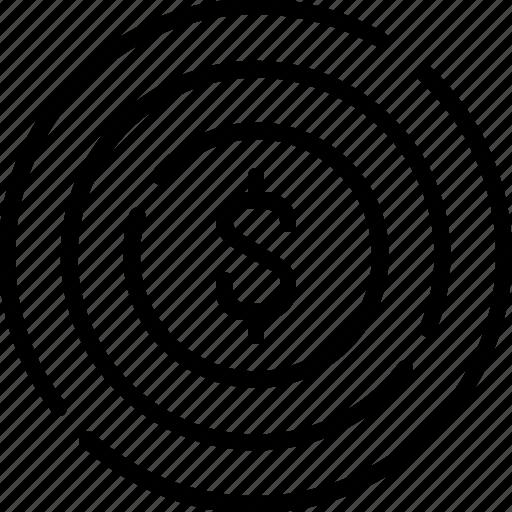business, dart, dollar, line, target icon