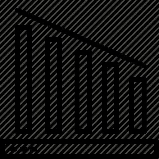 down, graph, line, trading icon