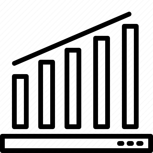 graph, growth, line, trading, up icon