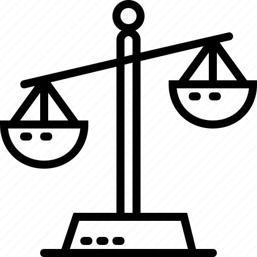 justice, law, line, weigh icon