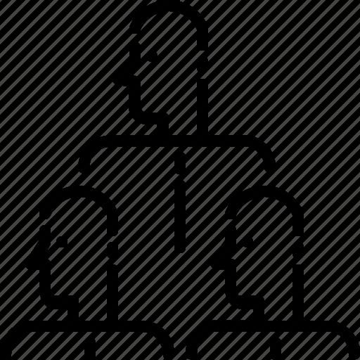 group, line, man, people, team icon