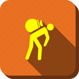 backpack, journey, luggage, tourist, travel, work, working porter icon