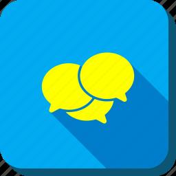 chat, comments, communication, forum, messages, talk, webinar icon