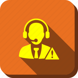 danger, emergency service, hotline number, operator warning, phone operator, safety, support chat icon