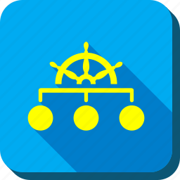 hierarchy, management, organization, rule, steering wheel, structure, system icon
