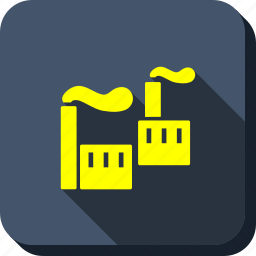 building, company, ecology, factory, industrial pollution, industry, smoking plant icon
