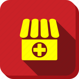 ambulance, apothecary, clinic, drug shop, drugstore, hospital, medical store icon