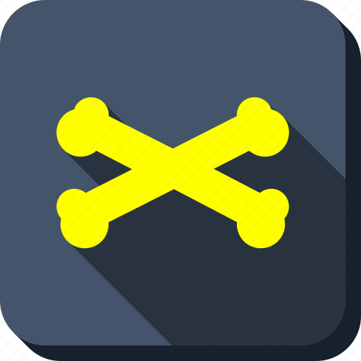 crossbones, crossed bones, danger, dead, death, pirate, skeleton icon