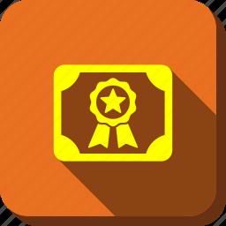 badge, certificate, certification, diploma, graduation, guarantee, quality icon
