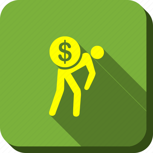 bank courier, bill collector, business, delivery, money, service, thief icon