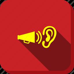 advertisement, audio, ear, hear, radio, sound, volume icon
