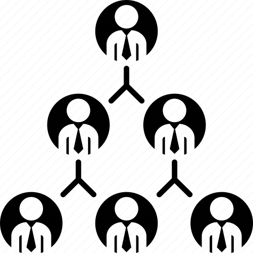 chart, diagram, organization, pyramid, structure icon