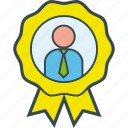 achievement, best, businessman, employee, executive, medal icon