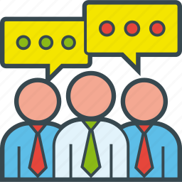 business, conversation, group, people, talking, team icon