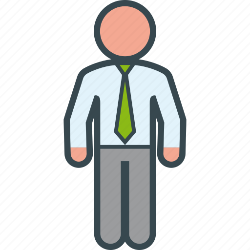 business, executive, man, standing icon