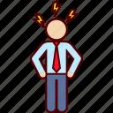 anger, boss, business, fury, man, rage icon