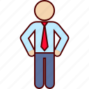 belt, business, hands, man, on, waiting icon