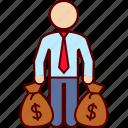 bag, business, money, profit, profitability icon