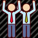 associate, business, goal, partners, success icon