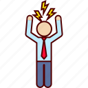 anger, boss, business, fury, man, rage icon