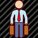 business, man, suitcases, travel, traveler