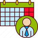 business, calendar, gantt, plan, planning, strategy icon