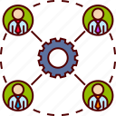 business, gear, group, office, people, team, teamwork icon