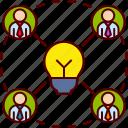 brainstorm, brainstorming, bulb, business, creative, idea, team icon