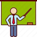 business, class, induction, teach, teaching, training icon