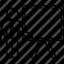 board, business, chalkboard, presentation, teacher, training icon