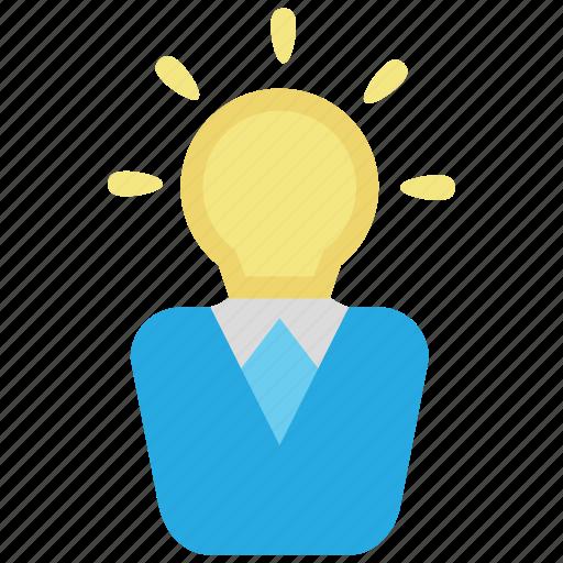 bulb, creative, creativity, idea, intelligent, light, smart icon