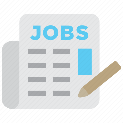 ads, business, jobs, labor, labour, newspaper, vacancy icon