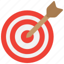 aim, arrow, arrows, bullseye, goal, niche, target icon