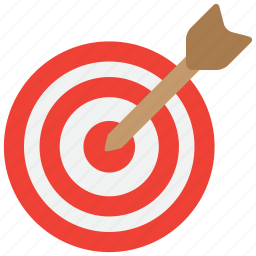 aim, arrow, arrows, bullseye, goal, niche, target icon