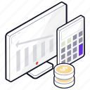 accounting, business analytics, commerce, financial calculation, tax calculation icon