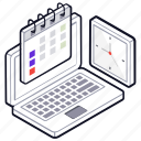 agenda, project planning, schedule, time management, time planner icon